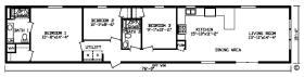 Williston Village Mobile Park Floorplan
